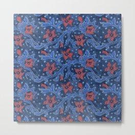 Felt Flowers Flower Branch Floral Pattern Wool Fiber Painting  Metal Print