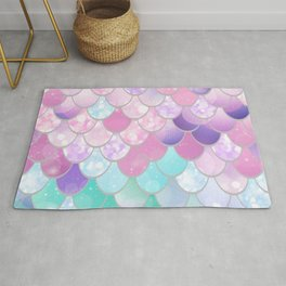 Mermaid Art, Sweet Dreams, Pastel, Pink, Purple, Teal Rug