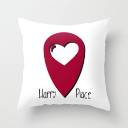 """Map pin """"Happy Place"""" Throw Pillow"""