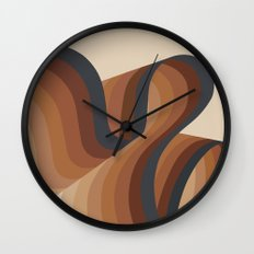 Cosmic Waves Wall Clock