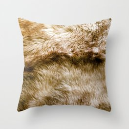 Fluffy Fur (NOT REAL FUR/PHOTO OF FUR) Throw Pillow