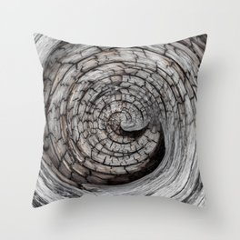 Spiralled Wood - Abstract Photography by Fluid Nature Throw Pillow