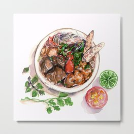 """""""Bun rieu"""" - Noodle with freshwater crab Metal Print"""