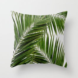 Palm Leaf III Throw Pillow
