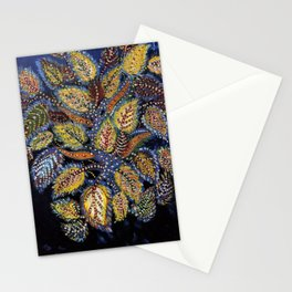 Blue Leaves of Autumn by Seraphine Louis Stationery Cards