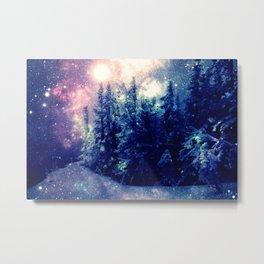 Galaxy Forest : Deep Pastels Metal Print