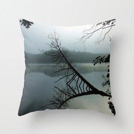Smokey lake Throw Pillow