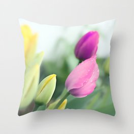 Colorful tulips 2 Throw Pillow