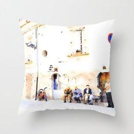 Vulture: senior citizens Throw Pillow
