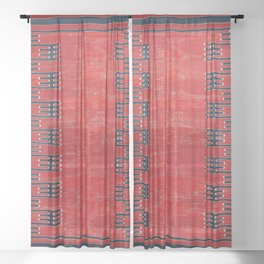 Yüncü Balikesir Northwest Anatolian Kilim Print Sheer Curtain