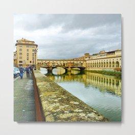 View to Ponte Vecchio Metal Print