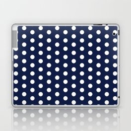 Navy Blue Polka Dots Minimal Laptop & iPad Skin
