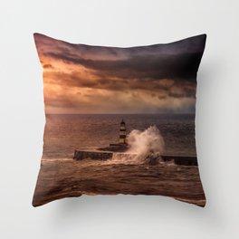 Poseidons Wrath Throw Pillow
