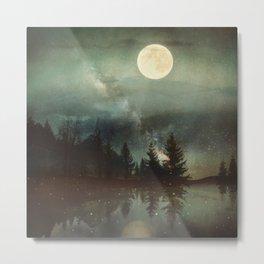 Midnight Fireflies Metal Print