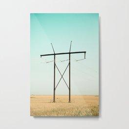 Don Quixote of La Mancha against the windmills Metal Print