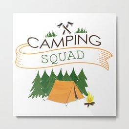 Camping squad Metal Print