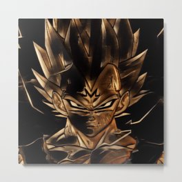 Dragon Ball Vegeta Artistic Illustration Energy Style Metal Print