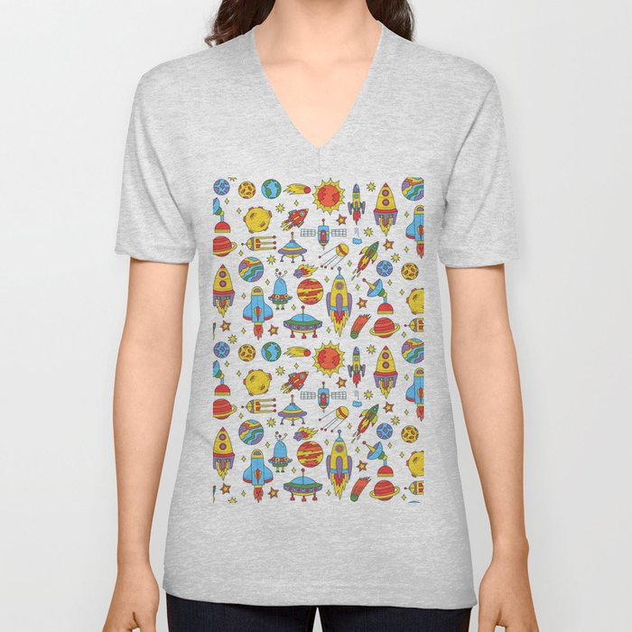 Outer space cosmos pattern Unisex V-Neck
