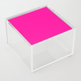 Neon Pink Solid Colour Acrylic Box