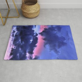Clouds - Twilight Summer #1 #sunset #decor #art #society6 Rug