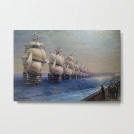 Parade of the Black Sea Fleet by Ivan Aivazovsky Metal Print