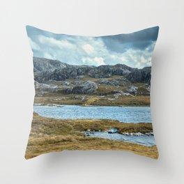 Wester Ross Landscape II Throw Pillow