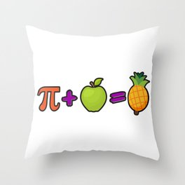 Pineapple Pi Science Geek Mathematics Symbol Humor Throw Pillow