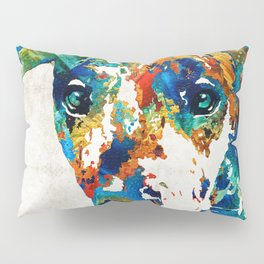 Colorful Great Dane Art Dog By Sharon Cummings Pillow Sham