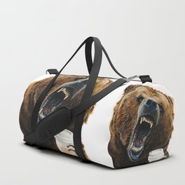 """"""" Grizzly Mornings """" give that bear some coffee Duffle Bag"""