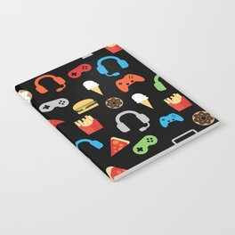 Video Game Party Snack Pattern Notebook