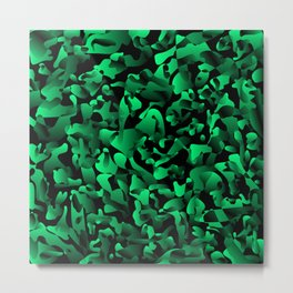 Explosive bright on color from spots and splashes of green paints. Metal Print
