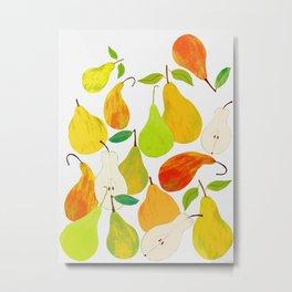 Pear Harvest Metal Print