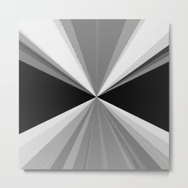 Modern abstract black white triangles pattern Metal Print