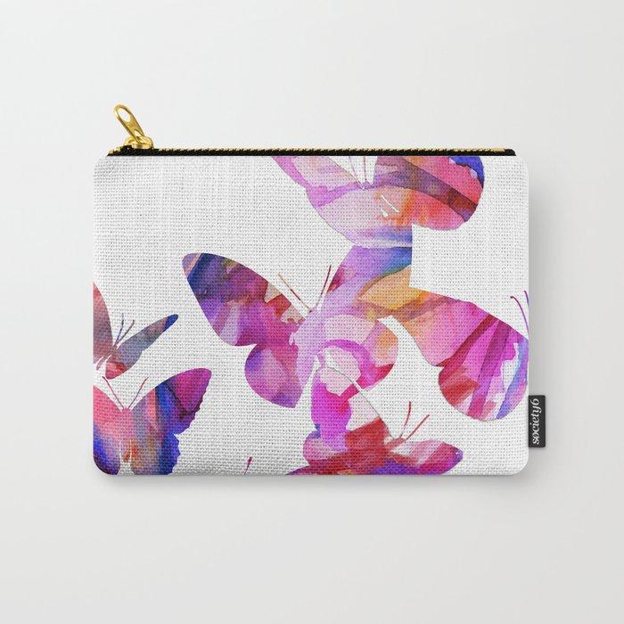 Pink Butterflies Carry-All Pouch