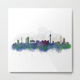 Berlin City Skyline HQ3 Metal Print