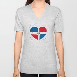 Orgullo Dominicano Unisex V-Neck