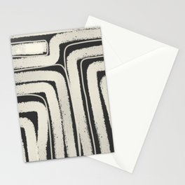Black and white geometric line Stationery Cards