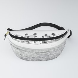 Vintage Newport Beach Print {4 of 4} | Photography Ocean Palm Trees B&W Tropical Summer Sky Fanny Pack
