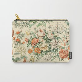 Wildflowers and Roses // Fleurs III by Adolphe Millot 19th Century Science Textbook Artwork Carry-All Pouch