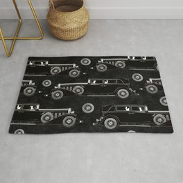 Retro car pattern Rug