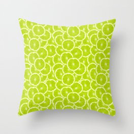 You're sub-lime! (Seamless lime pattern) Throw Pillow