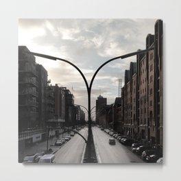 Hamburg Speicherstadt Symmetry Metal Print