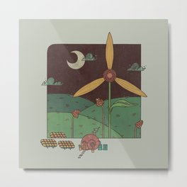 Green Living Metal Print
