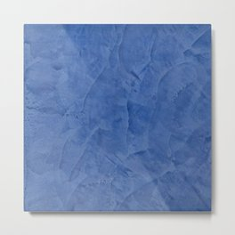 Tuscan Blue Plaster | Corbin Henry | Faux Finishes Metal Print