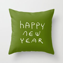 happy new year 16 Throw Pillow