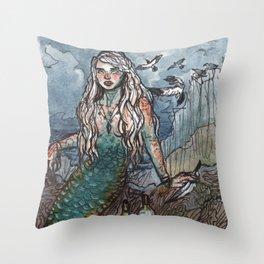 Tempest Mermaid Throw Pillow