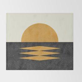 Sunset Geometric Midcentury style Throw Blanket