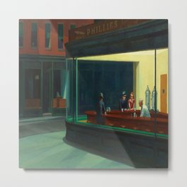 Edward Hopper's Nighthawks Metal Print