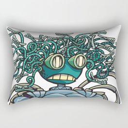 Robot Gorgon Rectangular Pillow