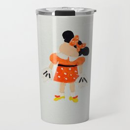 Toddlers Theme Park Summer Vacation Girl with Mouse Costume Travel Mug